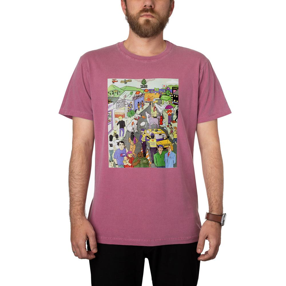 Camiseta Desafio: Bandas de Rock Bordô + Pôster