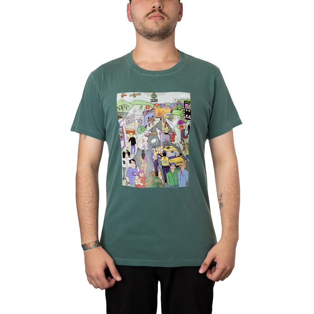 Camiseta Desafio: Bandas de Rock Verde Estonada + Pôster