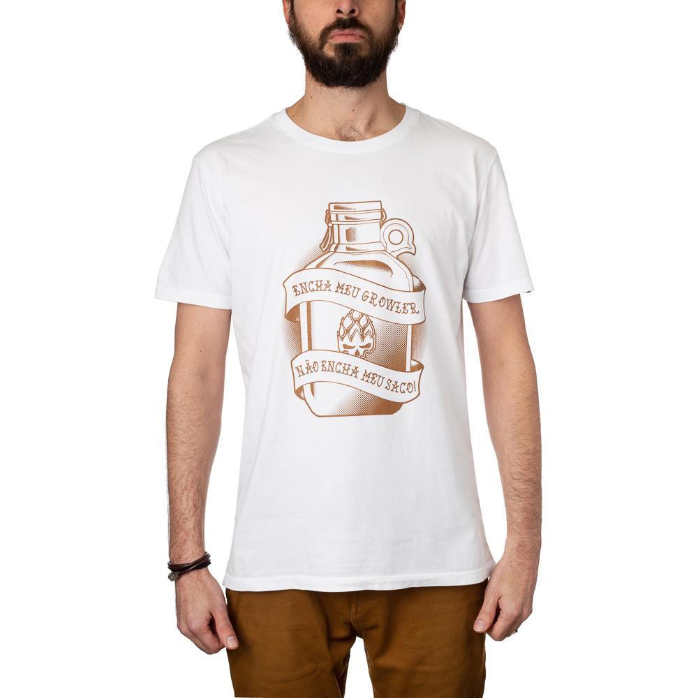 Camiseta Growler Branca Estampa Marrom + Pôster