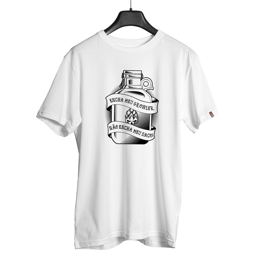 Camiseta Growler Branca + Pôster