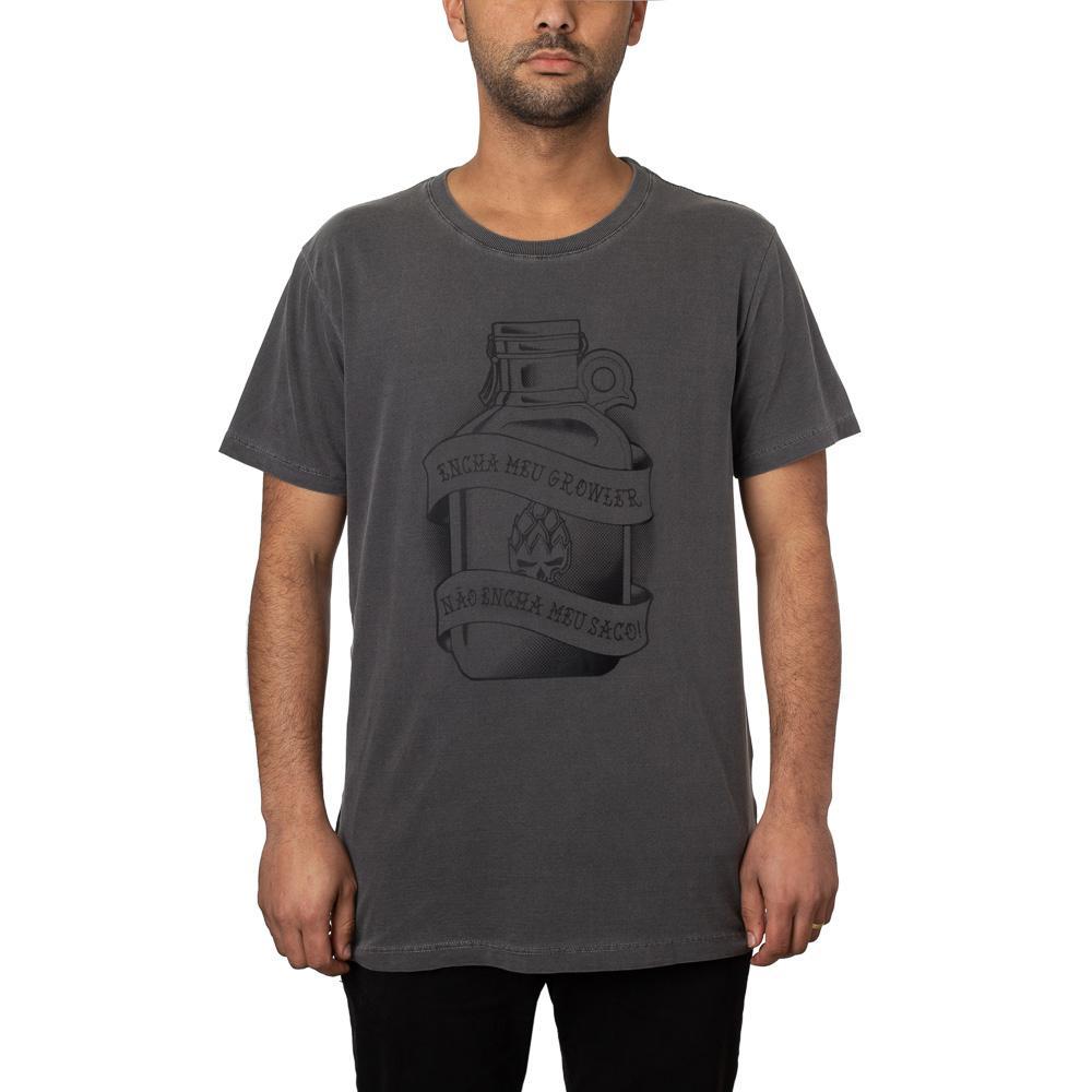 Camiseta Growler Preta Estonada + Pôster