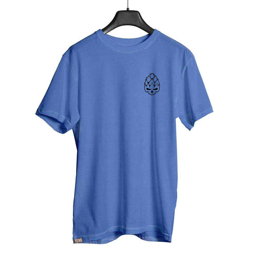 Camiseta Hopskull Contorno Azul Estonado