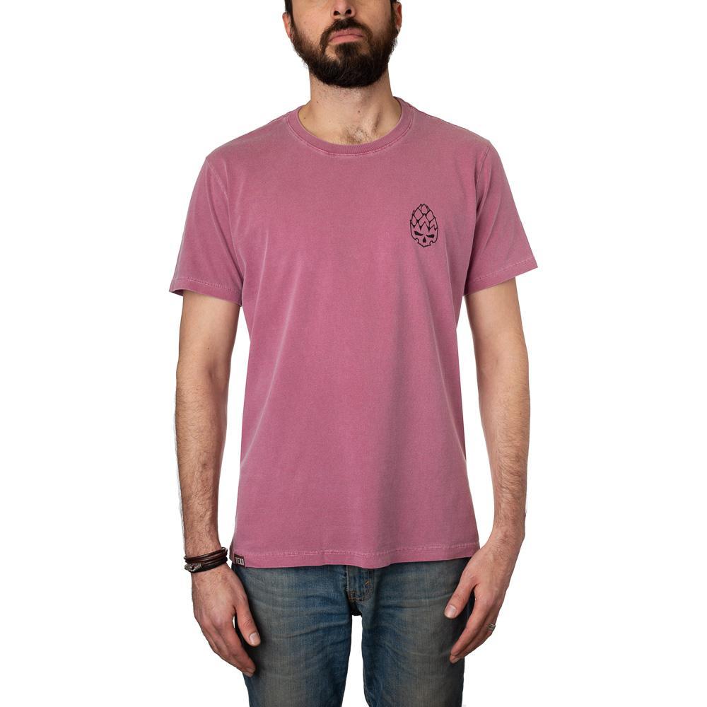 Camiseta Hopskull Contorno Bordô Estonada