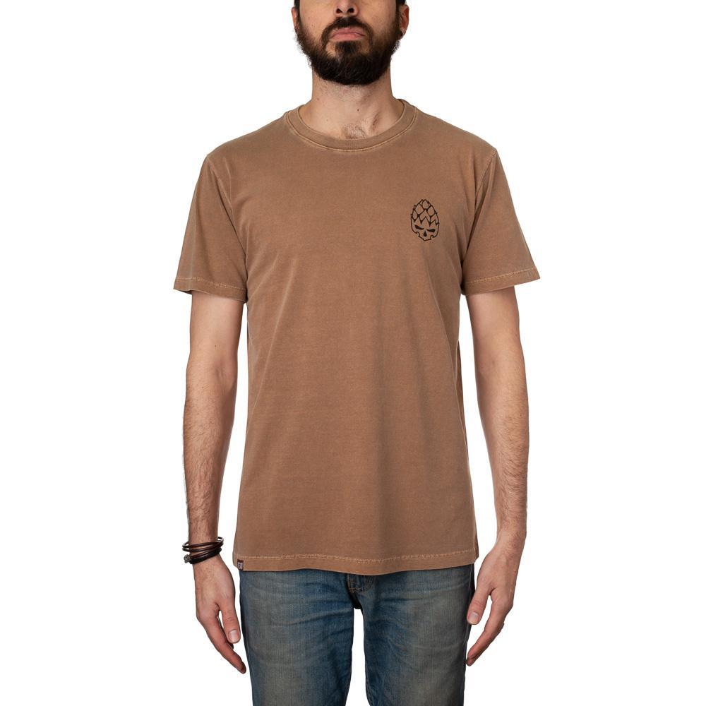 Camiseta Hopskull Contorno Marrom Estonada
