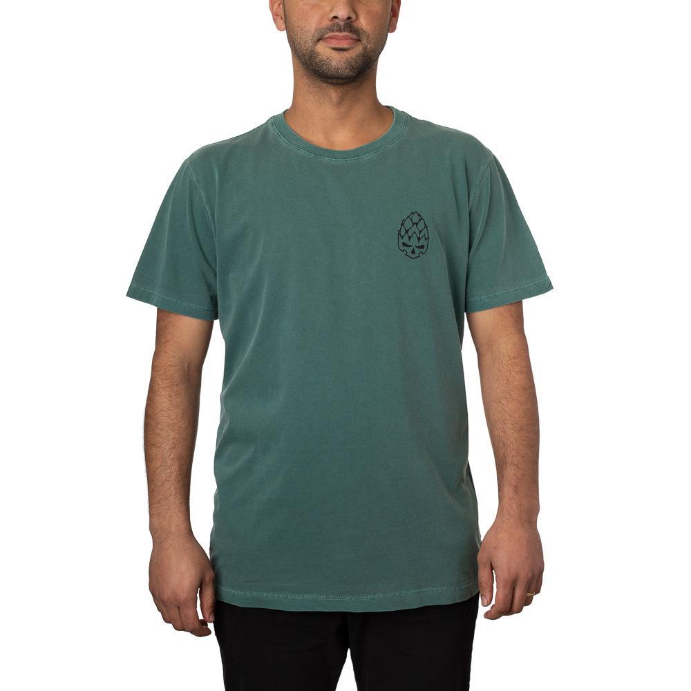 Camiseta Hopskull Contorno Verde Estonado