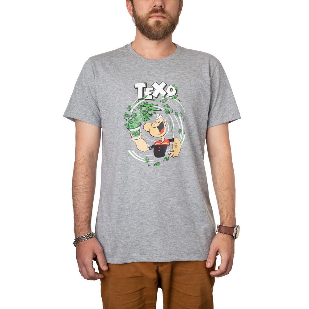 Camiseta Popeye Cinza Mescla + Pôster