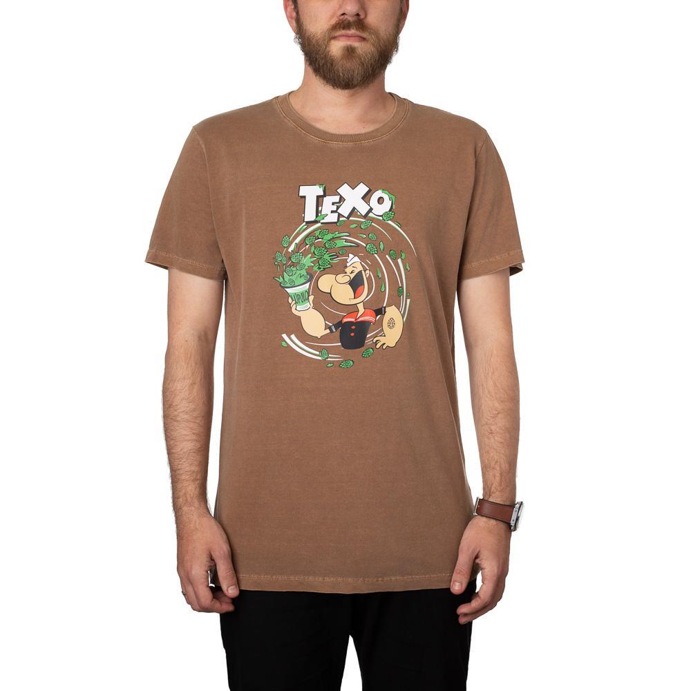 Camiseta Popeye Marrom Estonada + Pôster