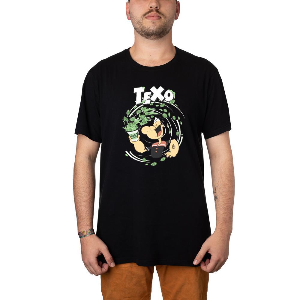 Camiseta Popeye Preta + Pôster
