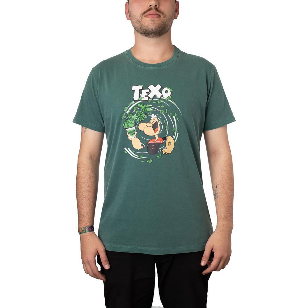 Camiseta Popeye Verde Estonada + Pôster