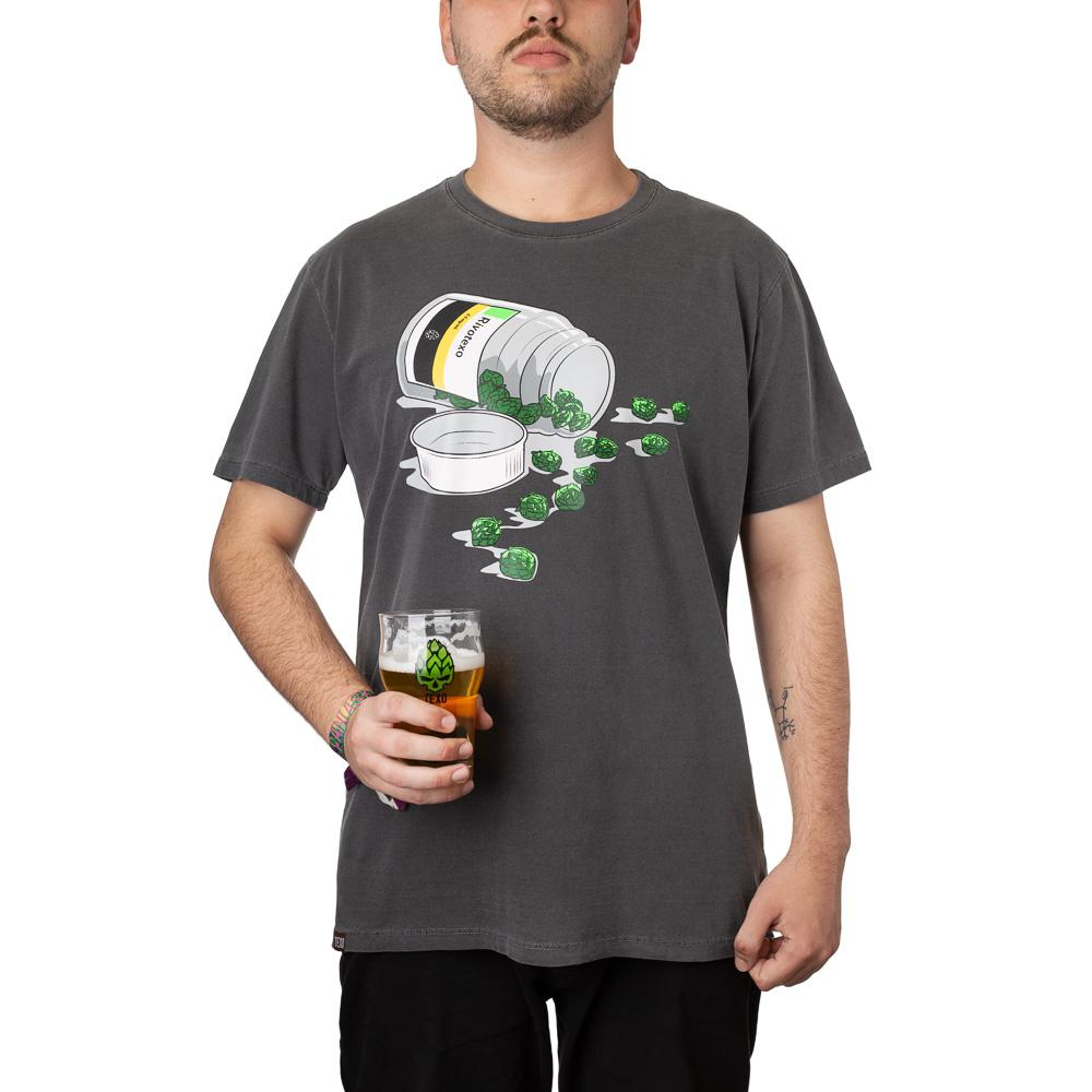 Camiseta Rivotexo Preta Estonada + Pôster