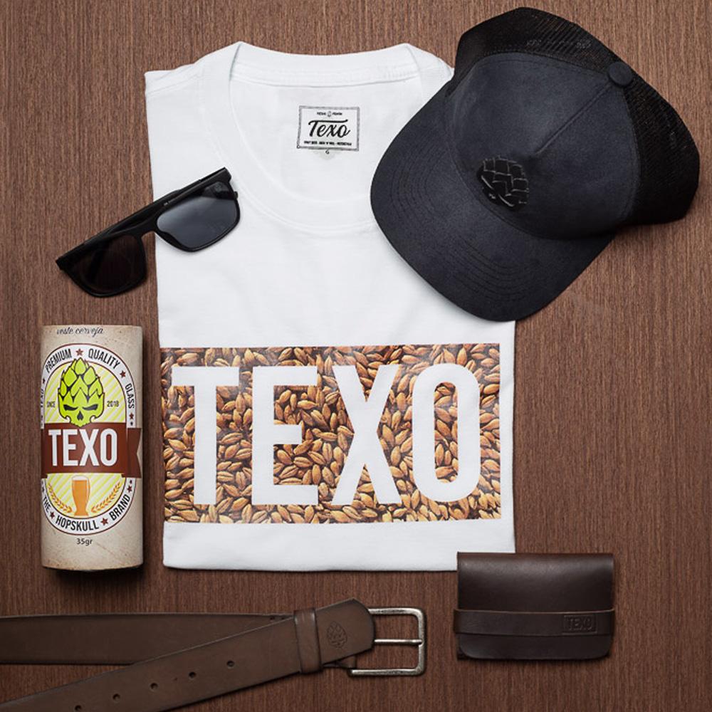 Kit Boné Good Idea Preto, Camiseta Texo Malte Branca, Óculos de Sol Masculino Orval Preto, Carteira em Couro Legítimo Strap Café, Cinto Toast em Couro Legítimo Café