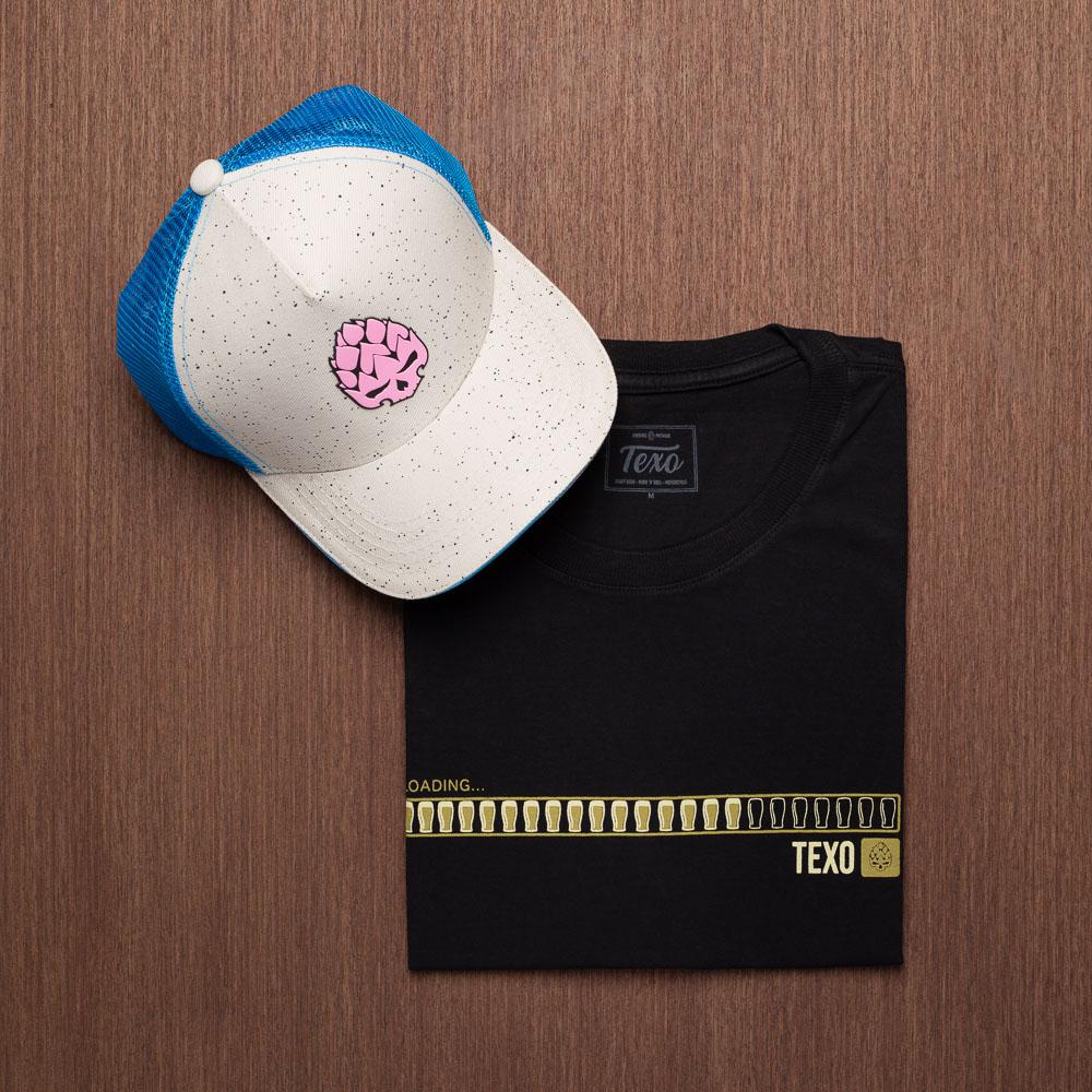 Kit Boné Trucker Delirium + Camiseta Loading Preta