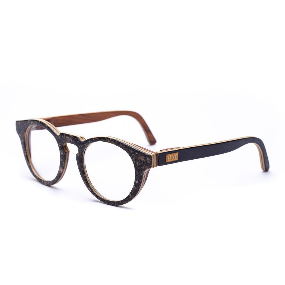 Óculos de Malte e Madeira Circle Preto/Jacarandá Grau