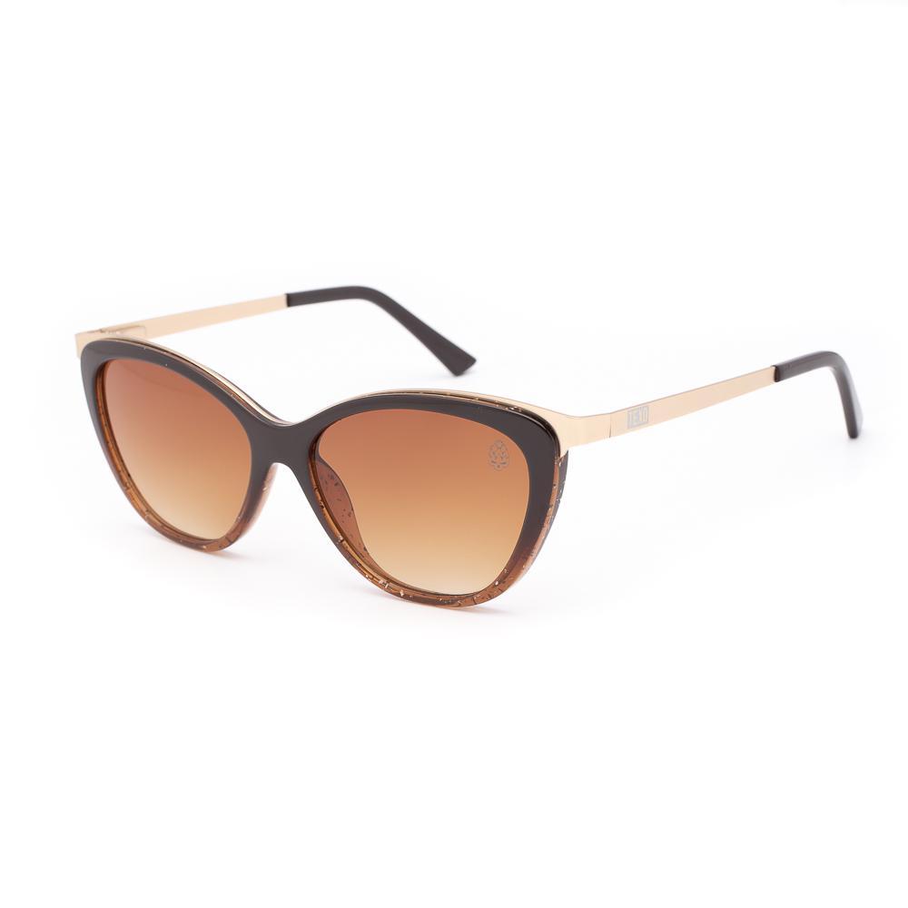 Óculos de Sol Feminino Gatinho Vedett Marrom