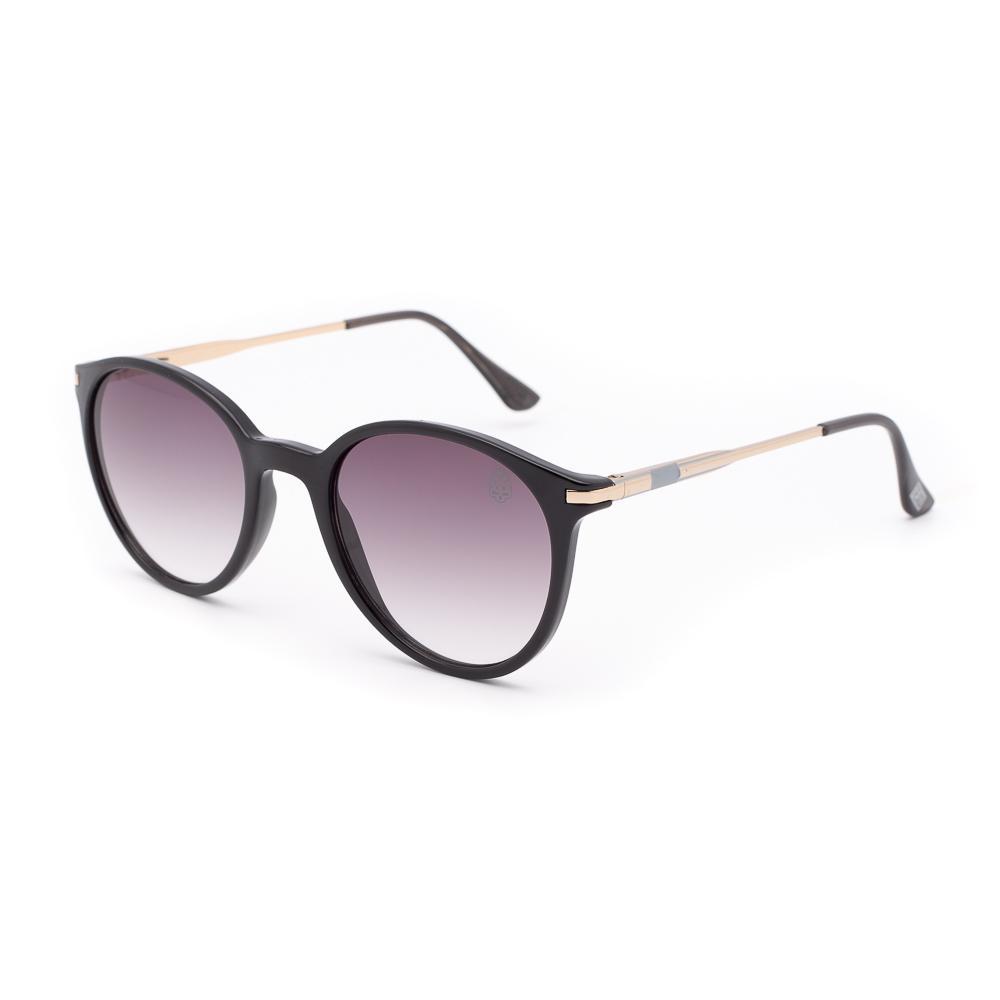 Óculos de Sol Feminino Redondo Aver Preto