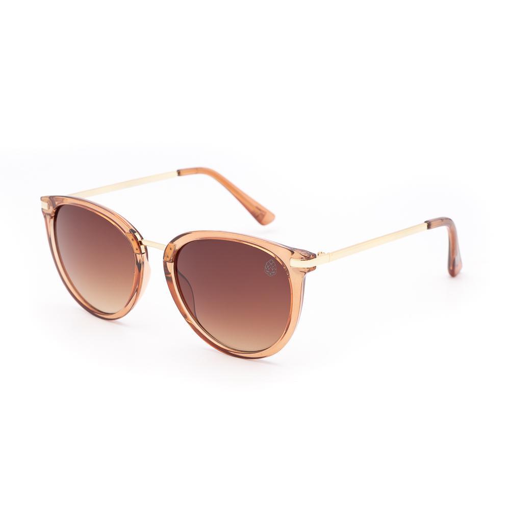 Óculos de Sol Feminino Redondo Breda Marrom
