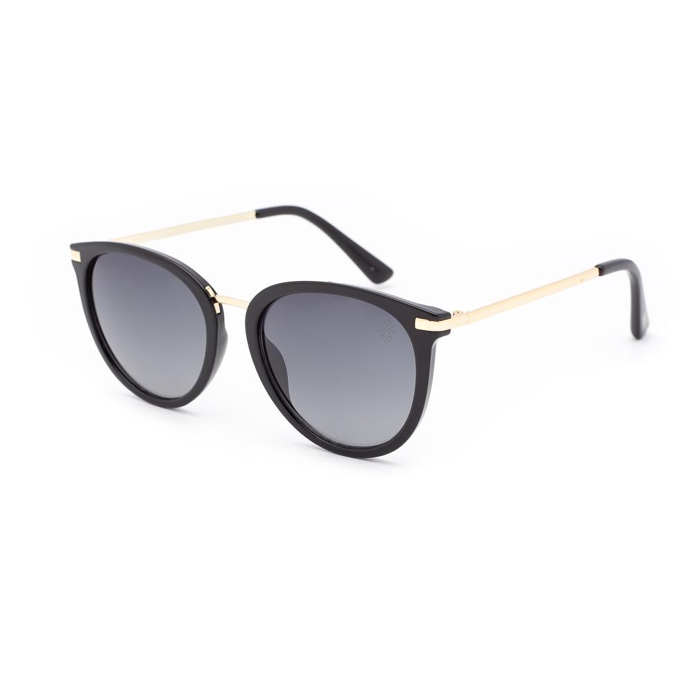 Óculos de Sol Feminino Redondo Breda Preto
