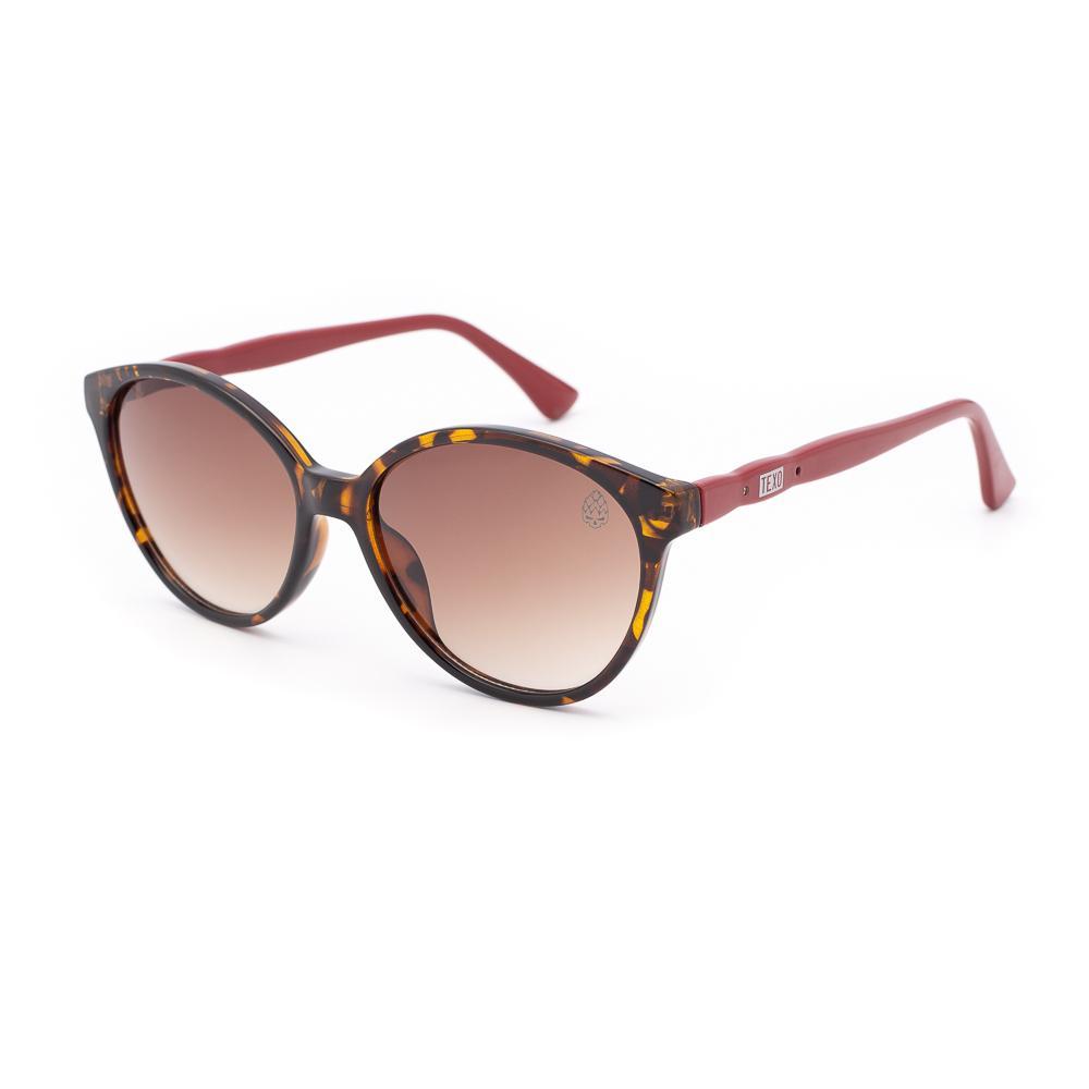 Óculos de Sol Feminino Redondo Chouffe Tartaruga e Vermelho