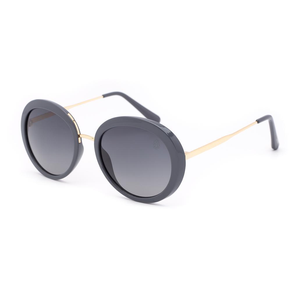 Óculos de Sol Feminino Redondo Zoet Cinza