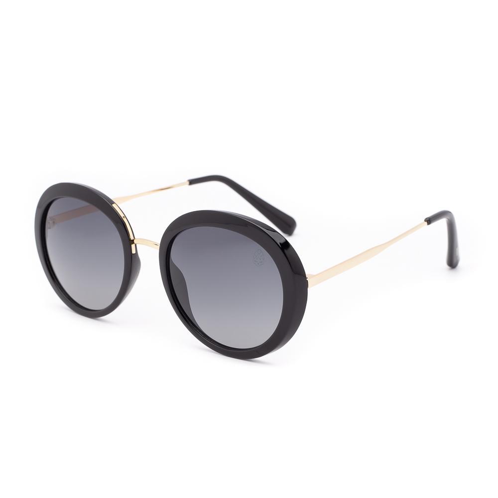 Óculos de Sol Feminino Redondo Zoet Preto