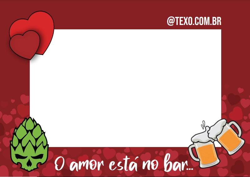 Porta-retratos Magnético Texo o Amor está no Bar