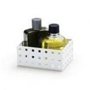 Caixa Modular Empilháveis Numero 2/  766 ml cor: Branco Arthi