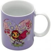 Caneca Porcelana  Teen Go Titans Home Collection 300 ml cor: Roxo