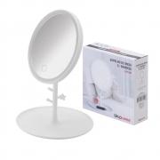 Espelho De Mesa Com Bandeja Em Luz Led  Cor: Branco