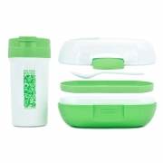 Kit Marmita 1150ml e Copo 400ml BPA Free - Viassin