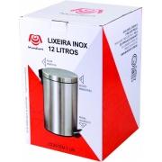LIXEIRA EM INOX COM PEDAL 12L- Mundiart
