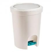 LIXEIRA C/PEDAL PLAST SANREMO 13,5L