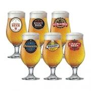 Jogo De 6 Taças Cerveja Chopp Royal Beer Happy Hour 380 Ml - Ruvolo