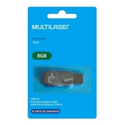 Pen Drive Titan 8GB preto- Multilaser