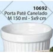 Porta Patê Canelado Tamanho: M Cerâmica  Porto Seguro cor: Branco