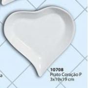 Prato Coração Tamanho: P Cerâmica Porto Seguro Cor: Branca