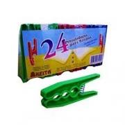 Prendedor Com 24 Peças Plástico Keita