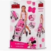 Carrinho de Boneca Minnie Mouse - Classic Dolls - Roma