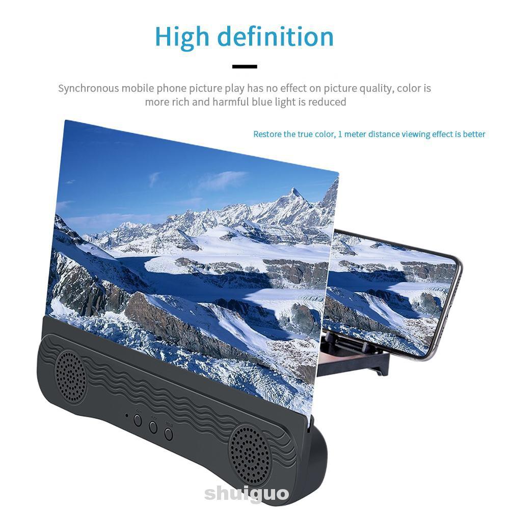 Ampliador de tela bluetooth speaker 3d k8