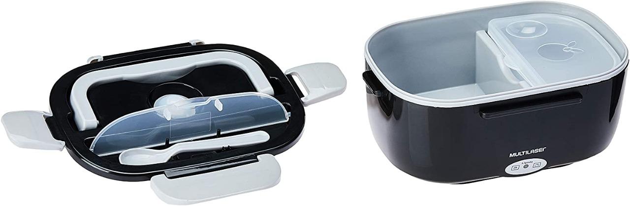 Aquecedor De Alimentos 1Litro LIvre De Bisfenol Bivolt Multilaser Gourmet Compartimento Removível
