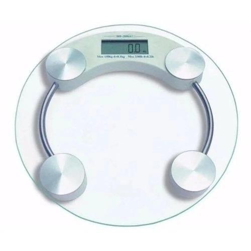 Balança Digital de Vidro 180kg Redonda - Casita