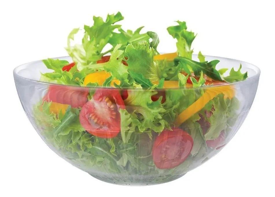 Saladeira - Fruteira - Tigela Bowl De Vidro Gourmet - Ruvolo