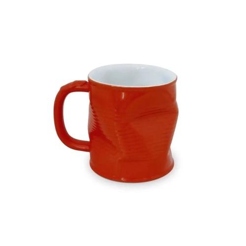 Caneca 320ml lata amassada na cor vermelha - Ceraflame
