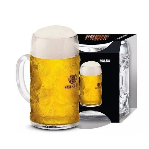 Caneca De Vidro Cerveja Chopp Mass Baden Baden 500ml - Ruvolo