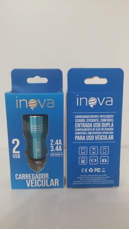 Carregador Inova 2.4a E 3.4a 2 Usb Car-g5067 Veicular
