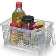 Cesto Organizador Com Alça -Cristal - Arthi- 5 Litros