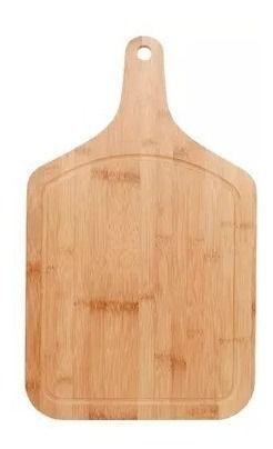 Kit Churrasco Tábua 30x50cm + Garfo + Faca Bamboo Mor