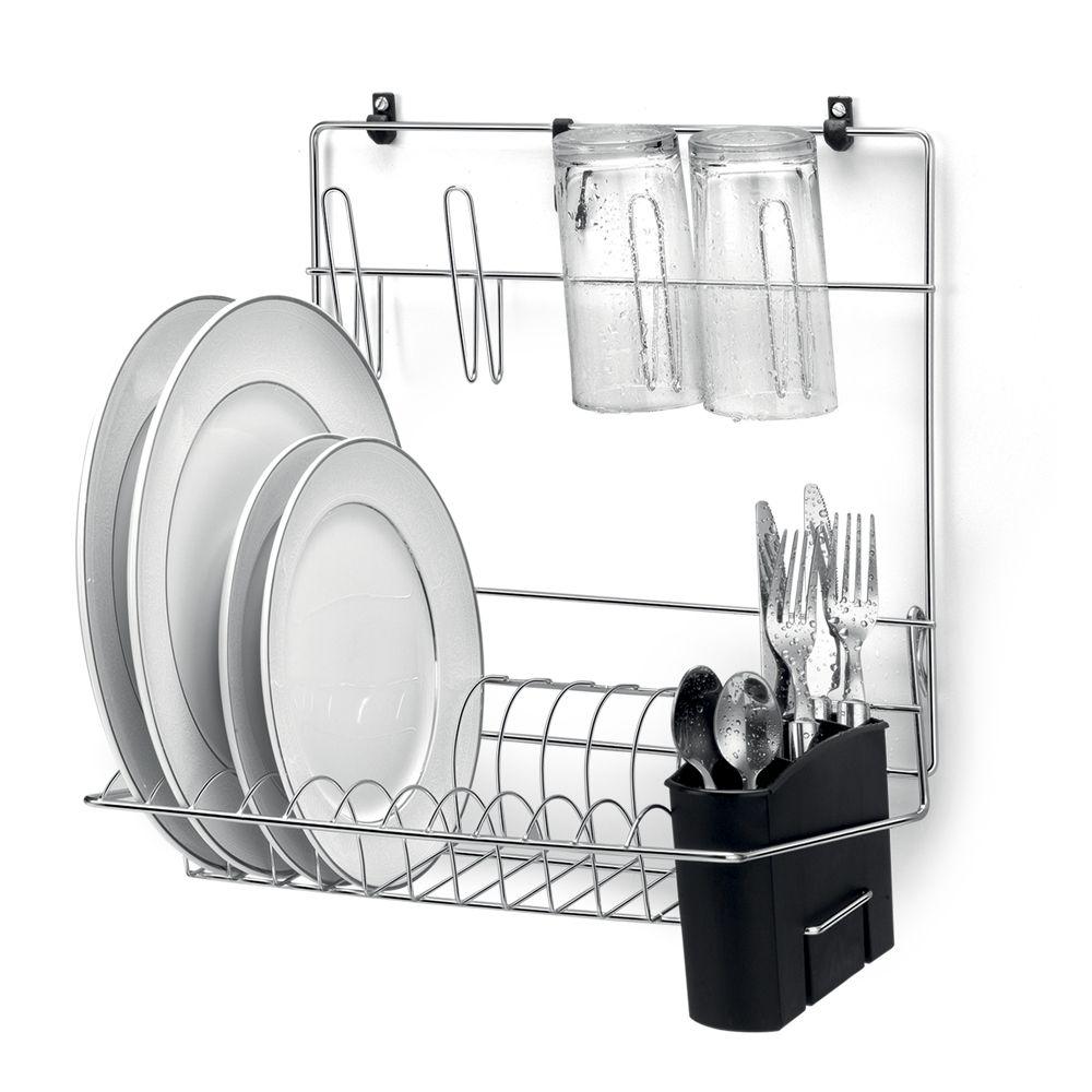 Cook Home 8 -kit organizador com 6 pecas em aço cromado- Arthi