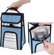 Ice Cooler 4,5 litros cor: azul com prata Mor