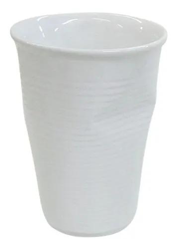 Copo De Cerâmica Plastic 240ml Branco - Mondoceram