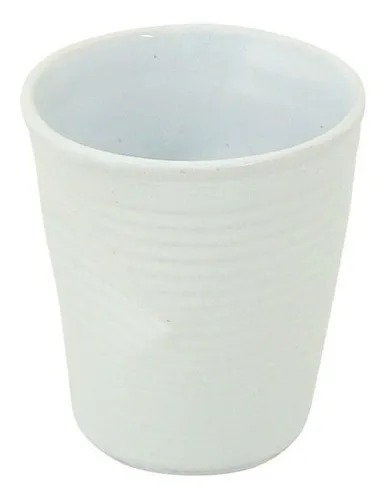 Copo De Cerâmica Plastic Espresso 70ml Branco - MondoCeram